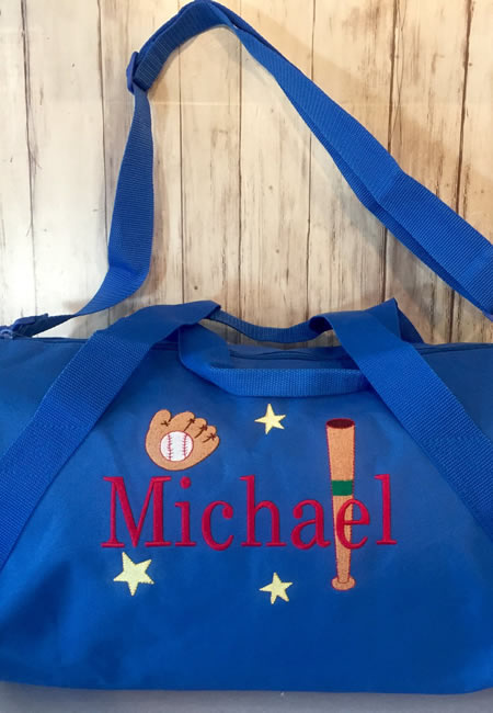 Personalized duffle bags for boys and girls