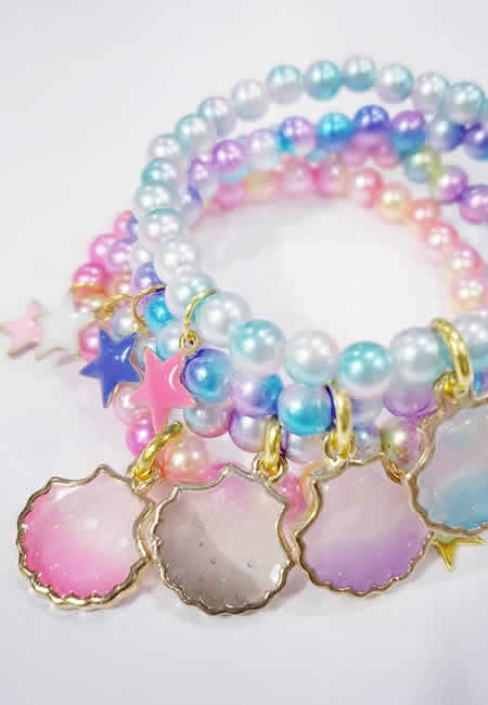 Bead and charm bracelets for children at folia in south dartmouth ma