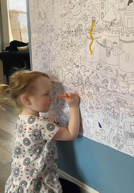 Omy giant coloring poster for children at folia in south dartmouth ma