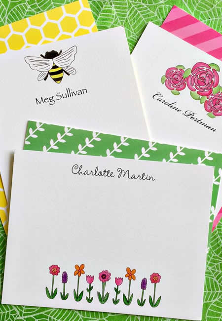 Personalized children's stationery at folia in south dartmouth ma