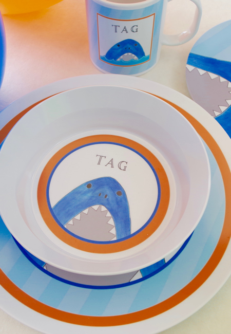 Personalized tableware for children