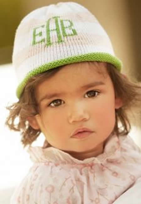 Personalized hats for babies and toddlers