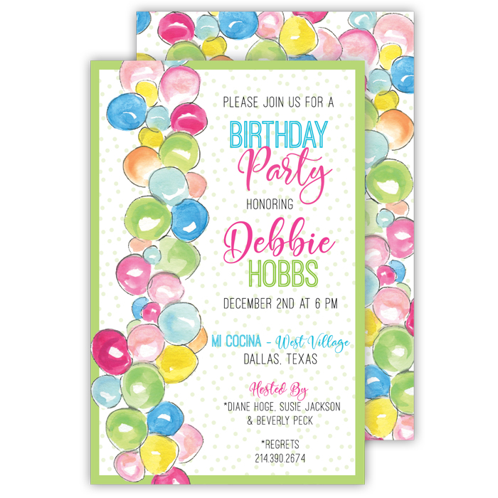 Adult and children birthday custom party invitations